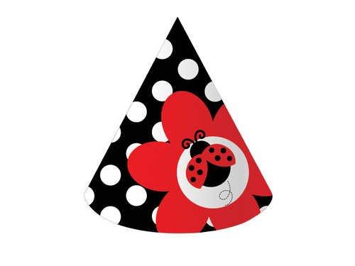 Creative Converting Ladybug Fancy Chapeaux de fête d'anniversaire, 8-Count