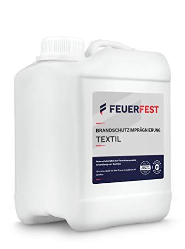 FEUERFEST® Brandschutzimprägnierung Textil 2,5l - B1 DIN 4102 - Oeko-TEX, Feuerschutzmittel, Brandschutzmittel
