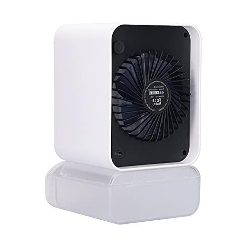 Ventilatore portatile per condizionatore d'aria, dispositivo di raffreddamento dell'aria personale alimentato tramite USB Nessun rumore Ventilatore a torre per dormitorio Campeggio per