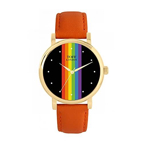 Toff London Reloj Pride Linear con Lunares Negros
