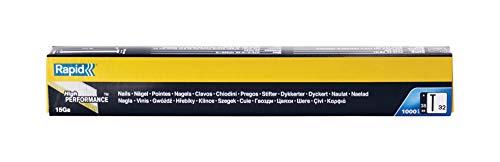 Rapid, 40104406, Clous N°32, 38mm de longueur, Angle de 34°, 1000 pièces, Fil galvanisé enduit de résine, Haute performance