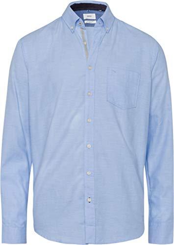 BRAX Herren Style Dries Hemd mit Button-Down-Kragen, Light Blue, XS
