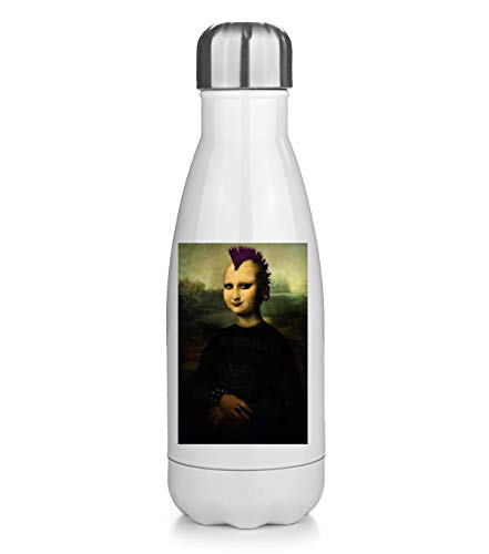 NoMoreFamous Punks Punk Mona Lisa Leonardo Portatile Borraccia Mantenere Caldo e Freddo Thermos Bottle