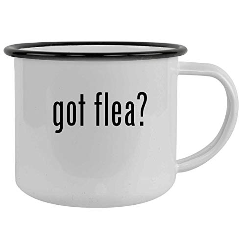got flea? - 12oz Camping Mug Stainless Steel, Black