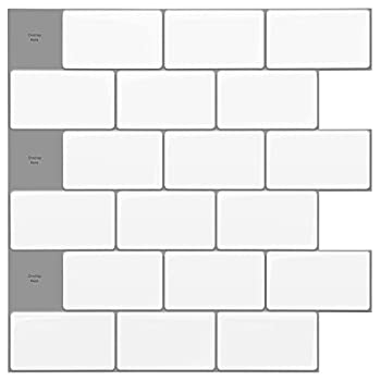 Art3d 12 x12  Peel and Stick Backsplash Tile Subway Sticker Warm White for Kitchen  10-Sheet