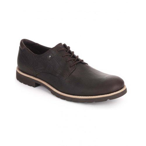 Rockport - Zapatos de Piel Ledge Hill para Chico Hombre (42 EU) (Chocolate)