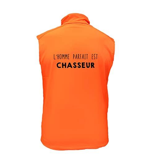 AtooDog Gilet de Chasse en Softshell, l'homme Parfait est Chasseur (SUVEO178, 4XL)