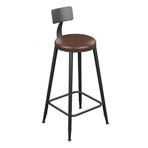 WBDZ Barhocker Gepolsterter Barhocker mit Rücken Barhocker Stapelbare Küchenhocker Industrielle Retro-Barhocker Esszimmerstuhl für Küchenrestaurant (Größe: 46 * 46 * 99cm)