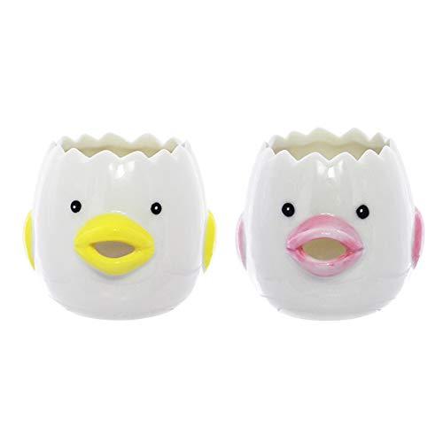 QUNUNOIRE Separatore Uovo di Ceramica Uovo Separatore di Albume Bianco Tuorlo Cucina Piccolo Utensile da Cottura Forno 1 PC Giallo