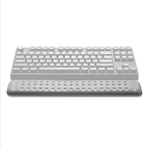 HUNANLUWEI メカニカルキーボードリストレストマウスパッドによるメモリーフォーム、サイズ:360x60x15mmミ通気性と耐汗 (Color : Grey)