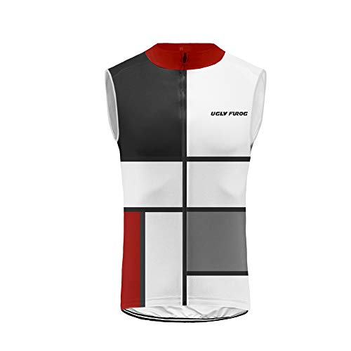 BurningBikewear Uglyfrog Ciclismo Maillots Sin Mangas Traje Ciclista Verano/Primavera Transpirable Cómodo Chalecos Cycling Vest MES2019MJ06