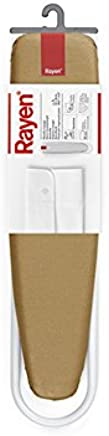 Blanco Mate y Dorado Rayen 6132.02 Plancha con Mangas L Algod/ón Metalizado 52x11x11 cm Espuma Acero Pintado