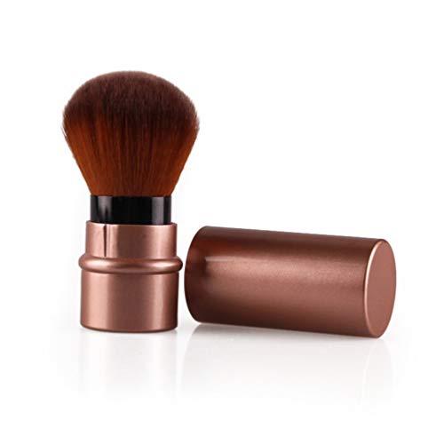 1Pcs Mini Doux Pinceau De Maquillage Rétractable Fondation Pro Cosmétiques Fard À Joues Poudre Brosses Outils De Beauté,Marron