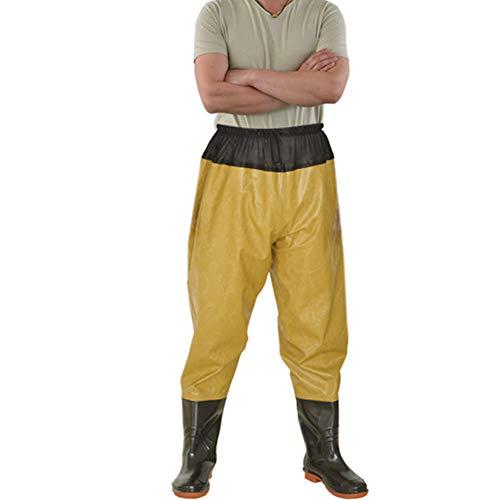 HHORD Hip Zancudas, Ligero y Transpirable PVC Pesca Waders, Impermeables Pantalones Bootfoot Zancudas Infantil para Hombres Mujeres,D,43