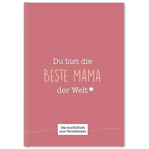 CUPCAKES & KISSES® Mama Buch zum Ausfüllen I Muttertagsgeschenk I Geschenkidee für die Mama I Geschenk für die Mutter zum Geburtstag oder Muttertag