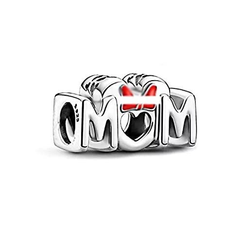 pandora 925 plata esterlina colgante DIY joyería madre encanto granos ajuste pulsera accesorios haciendo día de la madre para las mujeres
