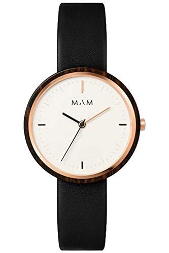 Mam originals Damen Uhr analog Japanisches Quarzwerk mit Leder Armband Plano 651