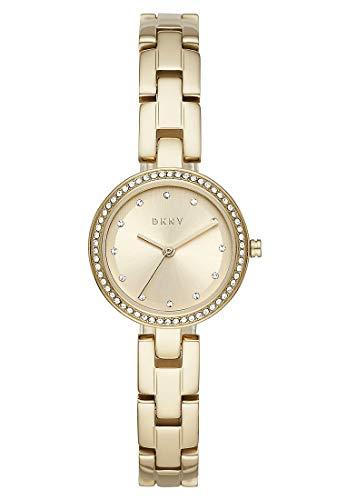 DKNY Damen-Uhren Analog Quarz One Size Gold 32010654