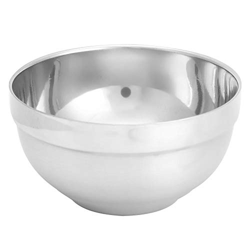 Kom - Kitchen Thicken 304 Roestvrijstalen Isoleerkan - Anti-verbrandingssoep Rijstkom voor Kinderen - Geschikt voor Hotels, Gezinnen, Scholen, Restaurants(L)