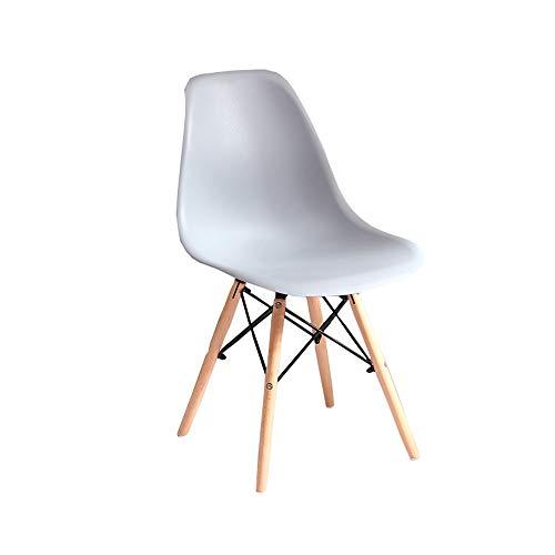 Ali@ Einfache Moderne Mode Hause Stuhl Stuhl Stuhl faul Stuhl massivholz Retro Stuhl sitzhöhe 45 cm (schwarz und weiß grau und andere fünf Farben optional) (Farbe : Gray)