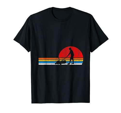 Cortacésped retro cortadora de césped jardinería amante regalo Camiseta