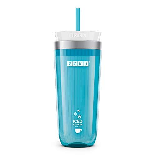 Zoku Teal Iced Coffee Maker, Travel Mug