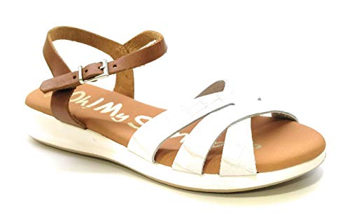 Oh! my Sandals 4660 Piel Coco Blanco