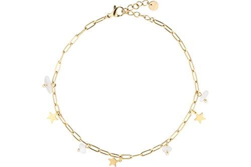 IKITA - Cavigliera con stella, in oro, agata