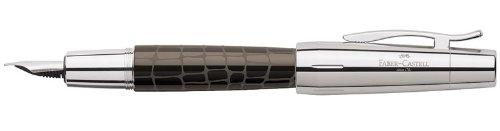Faber-Castell E-Motion - Pluma, color marrón con diseño de cocodrilo
