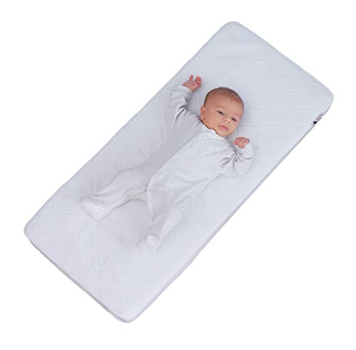 Little Chick London Breathable Mattress for Bedside Crib, fits Snuz3, 80cm x 44cm x 5 cm