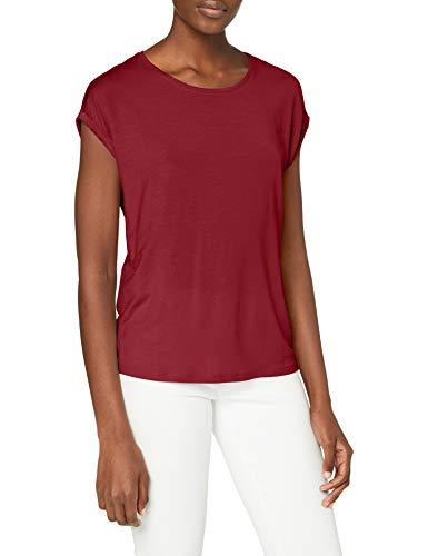 Vero Moda Vmava Plain SS Top Ga Noos Camiseta, Rojo Tibetano, XL para Mujer