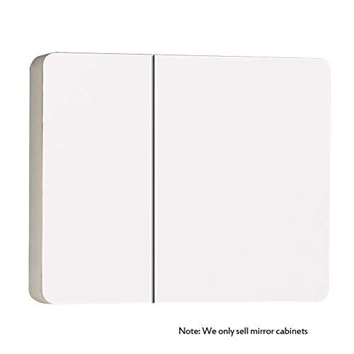 Armoires avec miroir Armoire de Toilette en Bois Massif Armoire de Toilette Miroir de courtoisie Mural avec étagère Cabinet de Stockage Miroirs de Salle de Bain (Color : Wood, Size : 90 * 14 * 65cm)