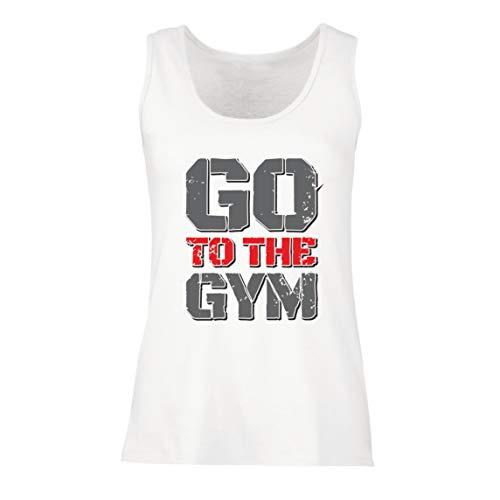 lepni.me Camisetas sin Mangas para Mujer IR al Gimnasio Equipo de Entrenamiento de Fitness Motivacional (XX-Large Blanco Multicolor)