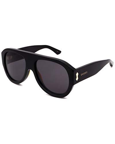 Gucci gafas de sol GG0668S 001 gafas de sol de los Hombres de color Negro, gris tamaño de la lente de 58 mm