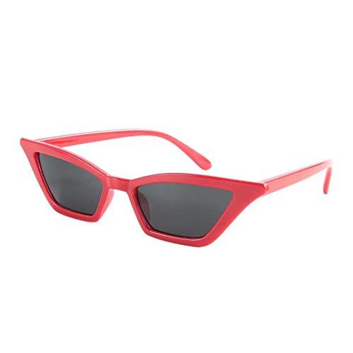 Familia agradable de las gafas de sol de las gafas de sol de la moda del ornamento de la resistencia de alta temperatura, para la playa(Red frame gray piece)