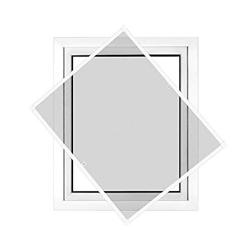 jarolift Profi Line Zanzariera con telaio per finestra - Zanzariera di alta qualità - telaio in alluminio - 120 cm x 150 cm bianco - zanzariera fai da te montabile senza fori