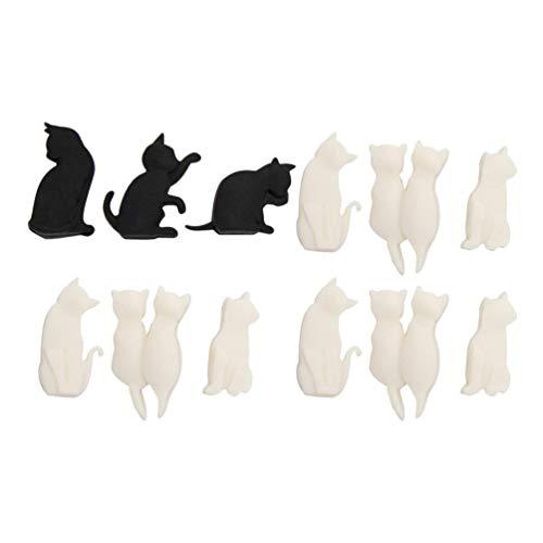 IMIKEYA 12 Piezas Marcador de Cristal en Forma de Gato Creativo Encantador Identificador de La Taza del Marcador de La Identificación para La Fiesta del Banquete