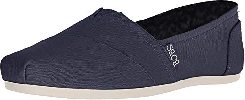 BOBS from Skechers Women's Plush - Peace and Love Flat,NVS-Navy,7.5 M US