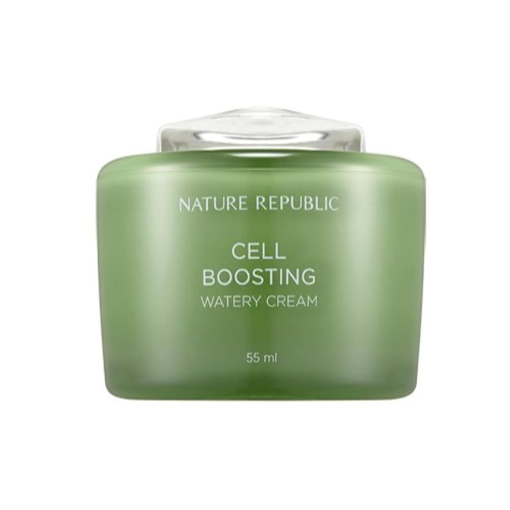 恩赦線聖人[ネイチャーリパブリック] Nature republicセルブースティングウォーターリークリーム海外直送品(Cell Boosting Watery Cream) [並行輸入品]