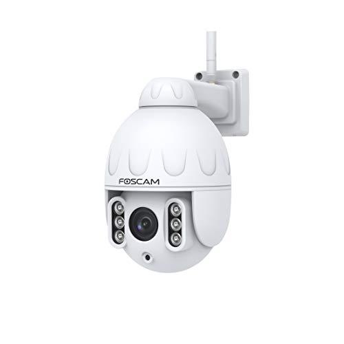 FOSCAM SD2 – Telecamera IP Wi-Fi Dome PTZ 2 MP con zoom ottico x4 – Rilevamento di movimento intelligente bianco