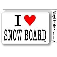 ILBT-037 アイラブステッカー I love SNOW BOARD (スノーボード) ステッカー
