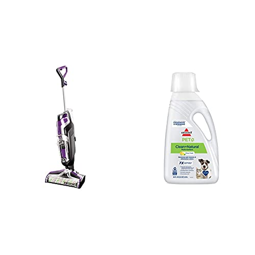 Bissell Crosswave Pet Pro All in One Wet Dry Vacuum Cleaner and Mop for Hard Floors and Area Rugs, 2306A with BISSELL PET Natural Cleaning Formula