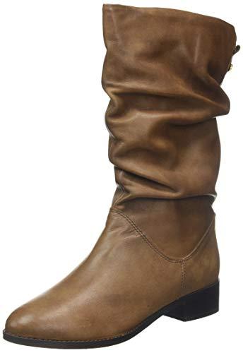 Dune London Damen Rosalinda Langschaftstiefel, Braun (Tan-Leather Tan-Leather), 37 EU