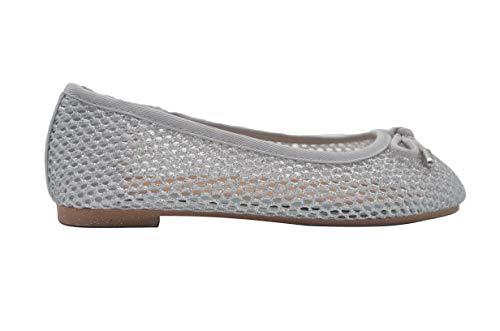 bebe Girls Ballet Flats 12 M US Little Kid Glitter Mesh Slip On Sandals Silver