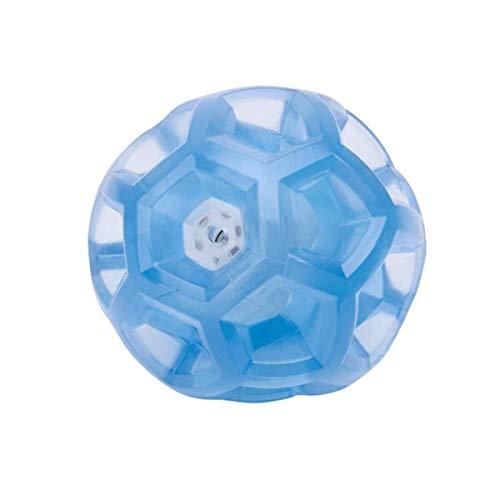 PUPWONG Hundeball Quietschend Set Hundespielzeug Ball Wasserdicht Quietschball kauen und beißen für Große und Kleine Hunde Training Spielen Laufen Schwimmen (Blau)