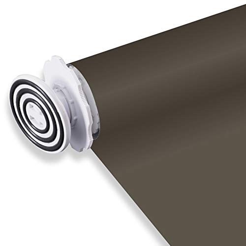 JIANFEI verduisterend rolgordijn Thermo rolgordijnen Blackout horizontale ramen waterdicht weefsel slaapkamer schaduwsnelheid 100% zwart bruin, 34 maten