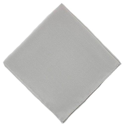 Un mouchoir en soie grise unie Michelsons
