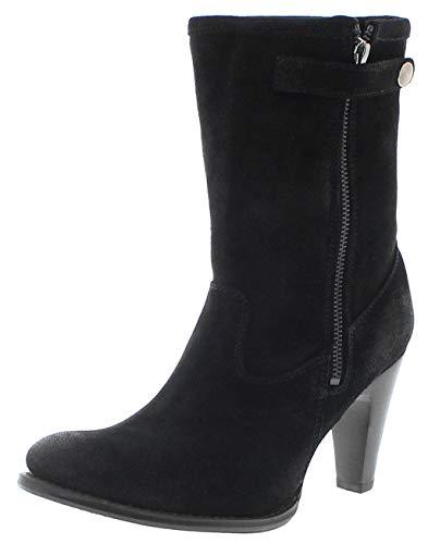 Sendra Boots Damen Stiefel 10603 Negro Lederstiefel mit Lammfell Schwarz High Heel 38 EU