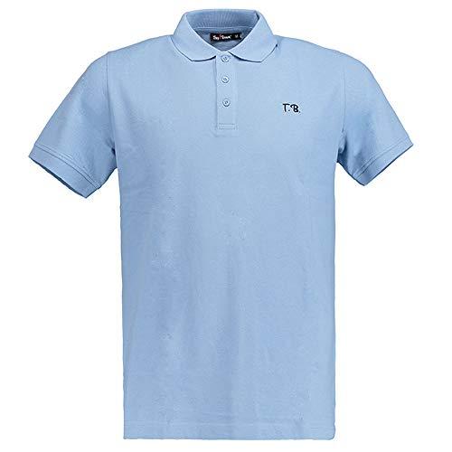 Tony Brown - Herren Polo Shirt Uni hellblau XXL
