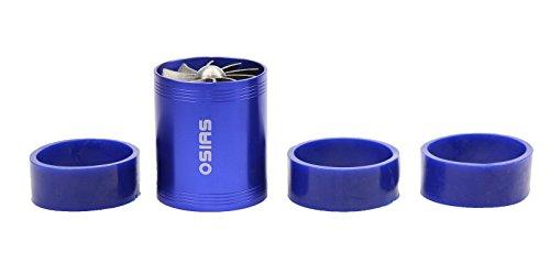 OSIAS New Black Dual Fan Turbonator Fuel Saver For Turbo Supercharger Air Intake BLUE